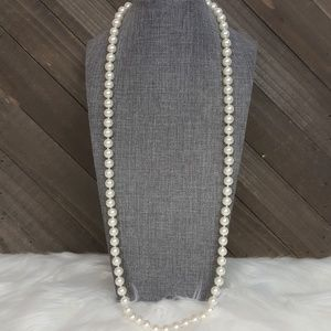 "🌟 80's Vintage NAPIER 30"" Pearl Long Necklace"